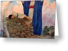 Abraham and Isaac on Mount Moriah Greeting Card by William Henry Margetson