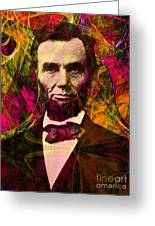 Abraham Lincoln 2014020502 Greeting Card by Wingsdomain Art and Photography