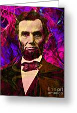 Abraham Lincoln 2014020502m68 Greeting Card by Wingsdomain Art and Photography