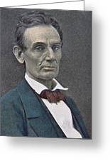 Abraham Lincoln Greeting Card by American Photographer