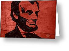 Abraham Lincoln License Plate Art Greeting Card by Design Turnpike