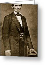 Abraham Lincoln Greeting Card by Mathew Brady