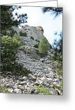Abraham Lincoln - Mt. Rushmore Greeting Card by Karen Gross
