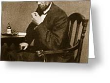Abraham Lincoln Sitting at Desk Greeting Card by Mathew Brady