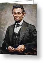 Abraham Lincoln Greeting Card by Ylli Haruni
