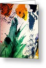 Abstract - Splashes Of Color Greeting Card by Ellen Levinson