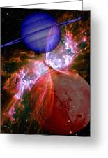 Abstract 168 Greeting Card by J D Owen