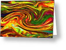 Abstract 17 Greeting Card by Kenny Francis