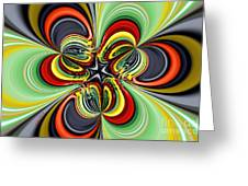 Abstract 301 Greeting Card by Cheryl Young