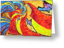 Abstract 34 Greeting Card by Kenny Francis