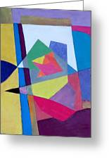 Abstract Angles II Greeting Card by Diane Fine