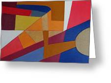 Abstract Angles Viii Greeting Card by Diane Fine