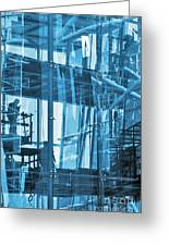Abstract Architecture Greeting Card by Carlos Caetano