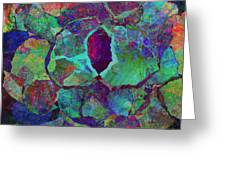 Abstract Art Colorful Collage Greeting Card by Ann Powell