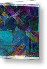 abstract - art - Stripes Five  Greeting Card by Ann Powell