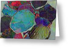 Abstract Art Torn Collage  Greeting Card by Ann Powell