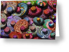 Abstract - Beans Greeting Card by Mike Savad