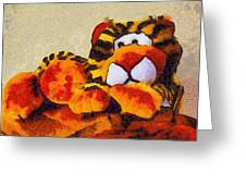 Abstract Bengal Tiger Greeting Card by Barbara Snyder