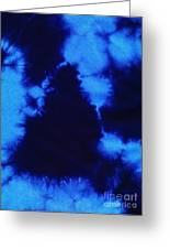 Abstract Blue Batik Pattern Greeting Card by Kerstin Ivarsson