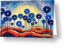 Abstract Blue Symphony  Greeting Card by Ramona Matei