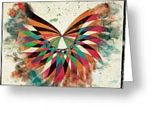 Abstract Butterfly Greeting Card by April Gann