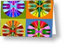 Abstract Circles And Squares 1 Greeting Card by Amy Vangsgard