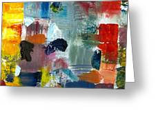 Abstract Color Relationships Lv Greeting Card by Michelle Calkins