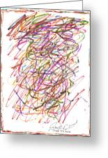 Abstract Confetti Celebration Greeting Card by Joseph Baril