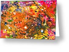 Abstract - Crayon - The Excitement Greeting Card by Mike Savad