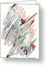 Abstract Drawing Fifty-one Greeting Card by Lynne Taetzsch