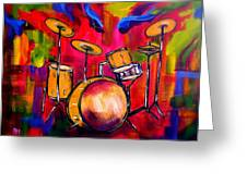 Abstract Drums II Greeting Card by Pete Maier