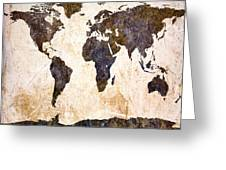 Abstract Earth Map Greeting Card by Bob Orsillo