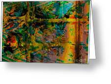 Abstract - Emotion - Facade Greeting Card by Barbara Griffin