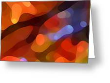 Abstract Fall Light Greeting Card by Amy Vangsgard