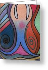 Abstract Figure In Color Greeting Card by Christine Perry