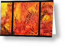 Abstract Fireplace Greeting Card by Irina Sztukowski