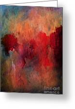 Abstract Flames Greeting Card by M and L Creations