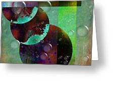 Abstract - Floaters Greeting Card by Liane Wright