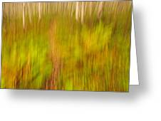 Abstract forest scenery Greeting Card by Gry Thunes