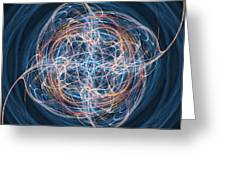 abstract fractal background 08 Greeting Card by Antony McAulay