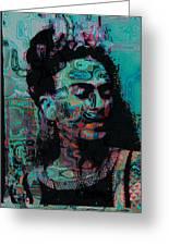 Abstract Frida Greeting Card by Bogdan Floridana Oana