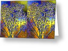 Abstract Fusion 100 Greeting Card by Will Borden