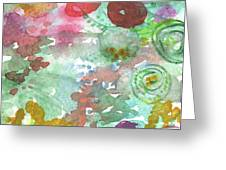 Abstract Garden Greeting Card by Linda Woods