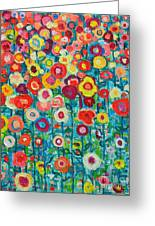 Abstract Garden Of Happiness Greeting Card by Ana Maria Edulescu