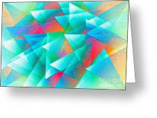 Abstract Geometry Of Triangles In Digital Art Greeting Card by Mario Perez