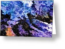 Abstract Granite Greeting Card by Ludwig Keck