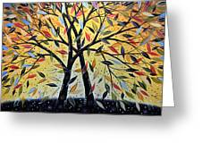 Abstract Landscape Modern Tree Art Painting ... New Day Dawning Greeting Card by Amy Giacomelli