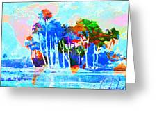 Abstract Map Greeting Card by Gary Grayson