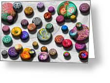 Abstract - Marbles Greeting Card by Mike Savad