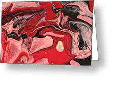 Abstract - Nail Polish - Raspberry Nebula Greeting Card by Mike Savad